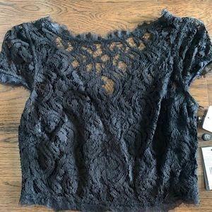 Nordstrom Black Lace crop top